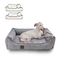 orthopedic dog bed Louis, Velours Optik/Suede leather...
