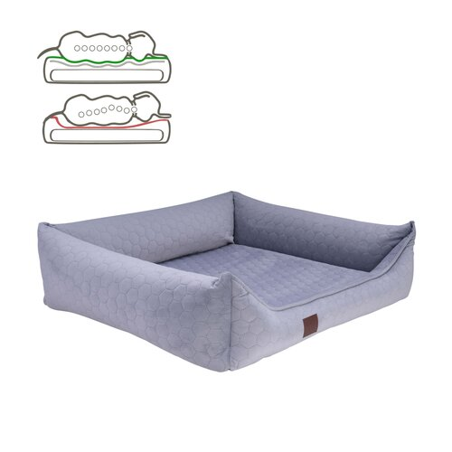orthopedic dog bed Snowy, samtiger Velours with Prägung,... Zweites Bild