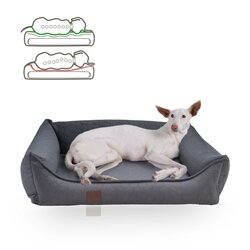 orthopedic dog bed Snowy, samtiger Velours with Prägung,...