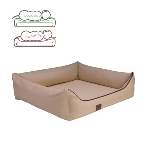 orthopedic dog bed Buddy, leatherette, Colour Beige Zweites Bild