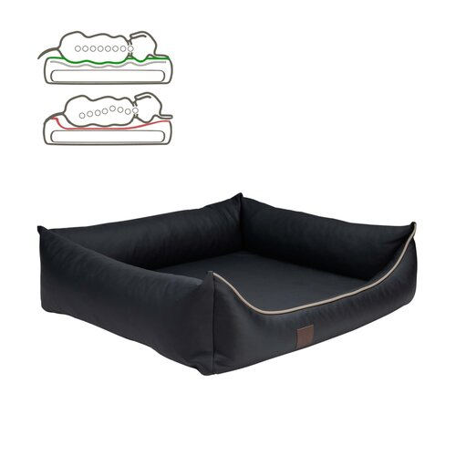orthopedic dog bed Buddy, leatherette, Colour Schwarz Zweites Bild