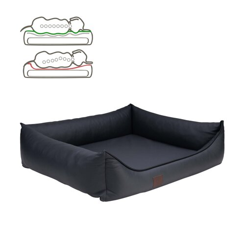 orthopedic dog bed Buddy, leatherette, Colour Grau Zweites Bild