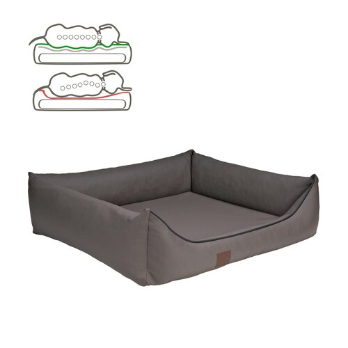 orthopedic dog bed Buddy, leatherette, Colour Taupe Zweites Bild