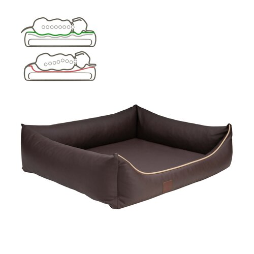 orthopedic dog bed Buddy, leatherette, Colour Braun Zweites Bild