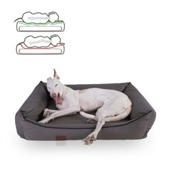 orthopedic dog bed Buddy, leatherette, Colour Taupe 90 x 70