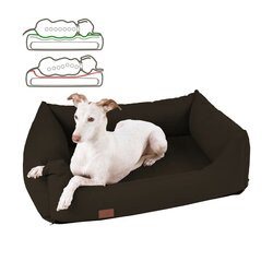 orthopedic dog bed Buddy, leatherette, Colour Braun 120 x 90