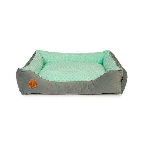dog bed LOTTA orthopedic soft - Edition Doggyfit by LaurenDesign, Colour grauer Samt und Minze Structural fabric